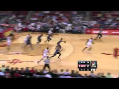 Biyombo Blocks Harden | Bobcats vs Rockets  | NBA 2012-13 Season 02/02/2013