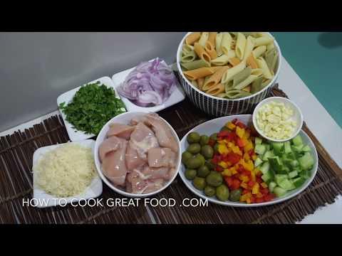 Grilled Garlic Chicken Pasta Salad Recipe - No Mayo