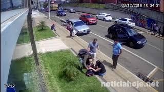 Vídeo mostra momento em que menino é atropelado, no Centro de Caçador
