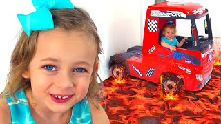 The Floor is lava + More Kids Songs by Maya and Mary