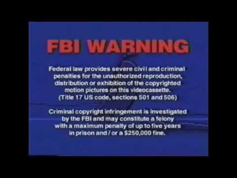 Fbi Warnings And Anchor Bay Entertainment Logo Youtube