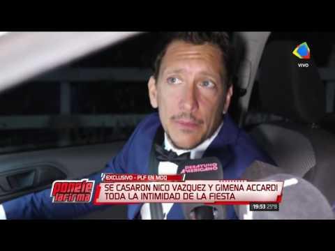 La intimidad de la boda de Nicolás Vázquez y Gimena Accardien en Mar del Plata