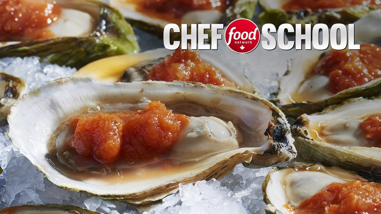 Micheal Smith's Oysters with Spicy Tomato Ice | Chef School