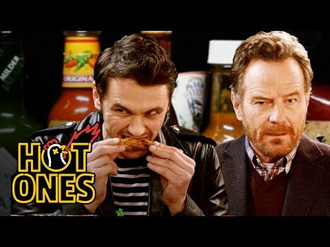 James Franco and Bryan Cranston Bond Over Spicy Wings  Hot Ones