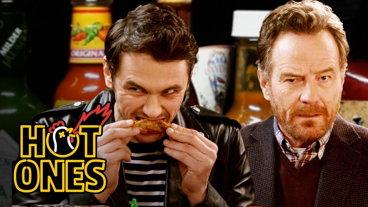 124149b8009 James Franco and Bryan Cranston Bond Over Spicy Wings