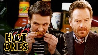James Franco and Bryan Cranston Bond Over Spicy Wings | Hot Ones thumbnail