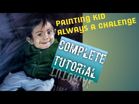 Painting Face // Step by step Tutorial// Acrylic painting