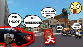 ROBLOX COP TRIES TO ARREST ARIANA GRANDE!!! - Adopt Me Roleplay