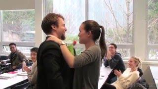 ) Surprise Valentine&#39s Serenade to Beautiful University Girls