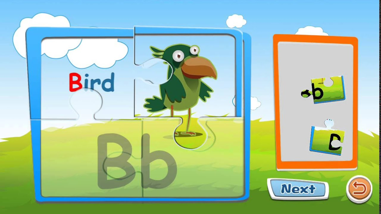 Preschool alphabet kids ABC puzzles and flashcards - free english ...