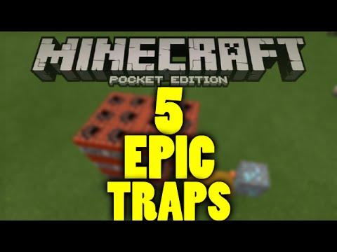 5 AMAZING Minecraft TRAPS! Minecraft pe redstone!