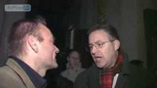 Patrick Petersen interviewt de burgemeester van Rotterdam Aboutaleb over de Museumnacht 2009