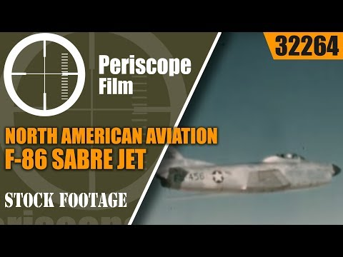 NORTH AMERICAN AVIATION 1950s F-86 SABRE...
