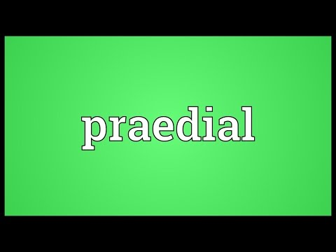 Praedial Meaning
