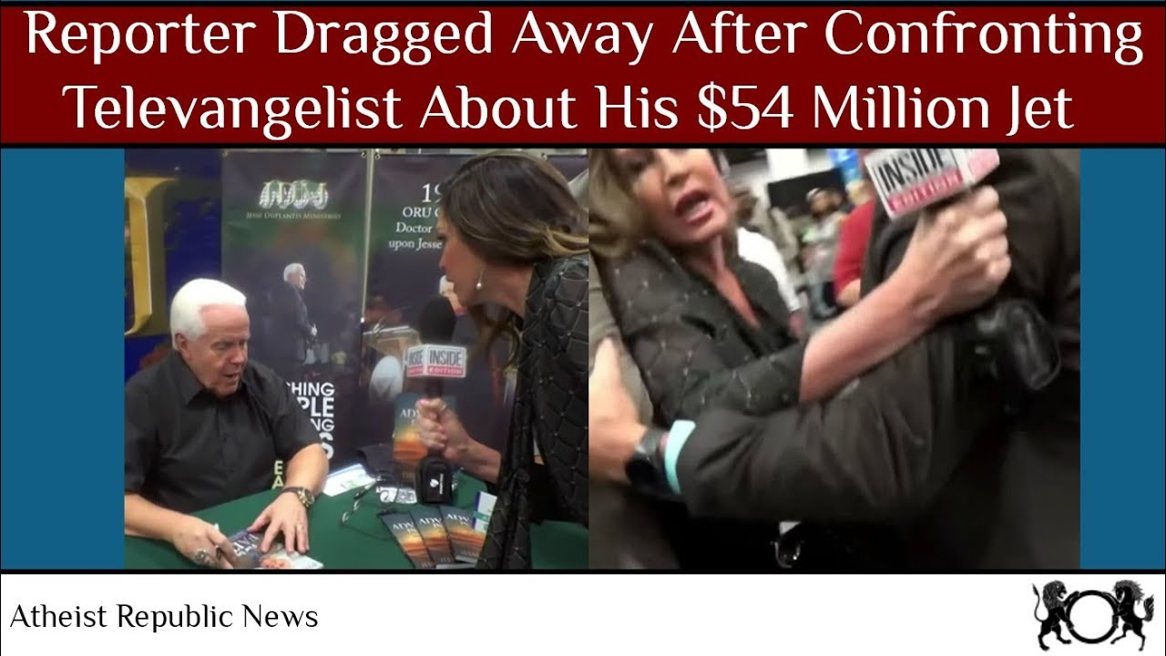 Reporter Dragged Away After Confronting Televangelist About His $54 Million Jet