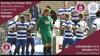 Chelmsford City 0 vs 4 Oxford City - Extended Highlights