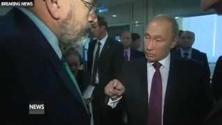 Частная съемка!! 2015 Путин и назойливый как муха корреспондент BBC !!