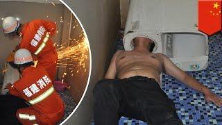 Kepala pria terjebak dalam mesin cuci - Tomonews