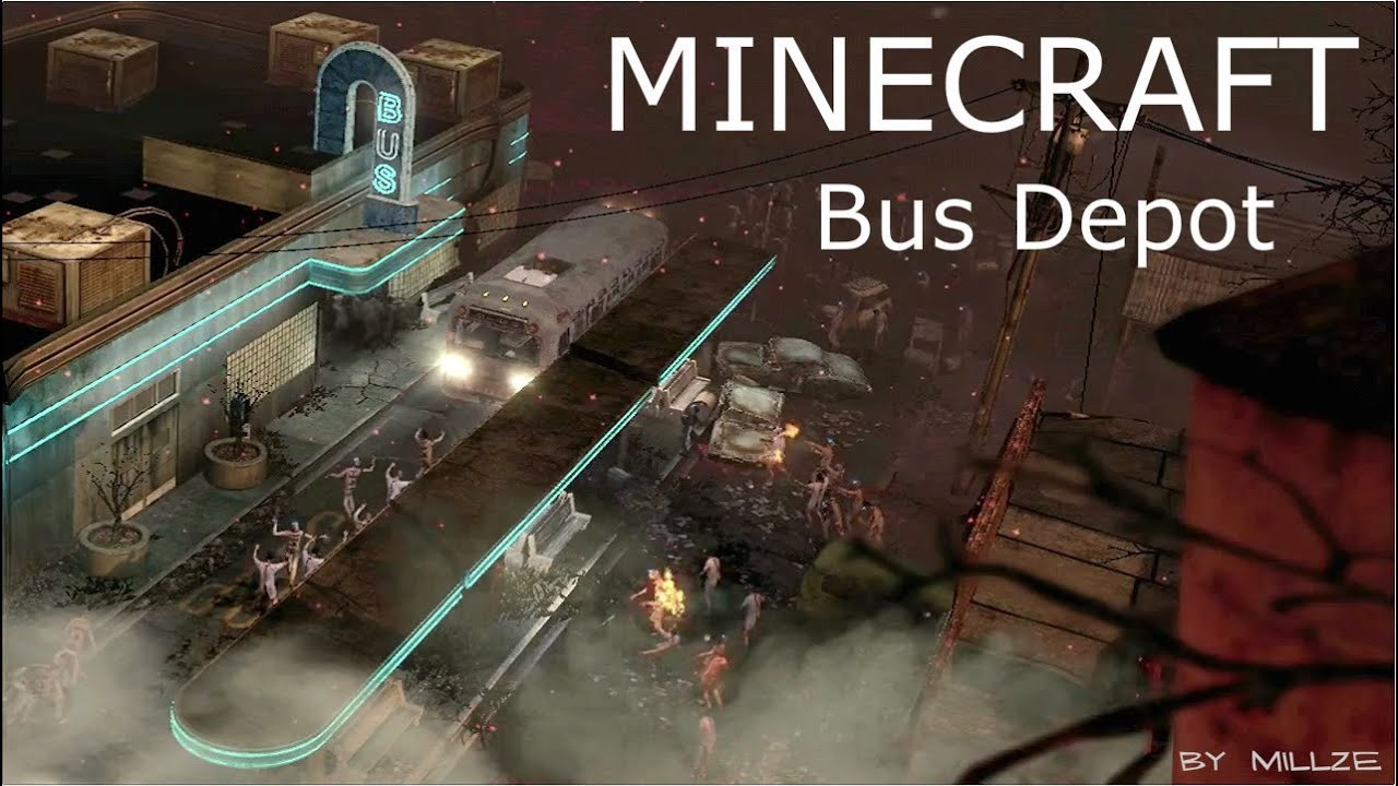 MINECRAFT ZOMBIES - TranZit Bus Depot (Episode 1) [WORLDS BEST QUALITY on multi-stop map, las vegas monorail stops map, metropolitan map, subway stop map, atm map,