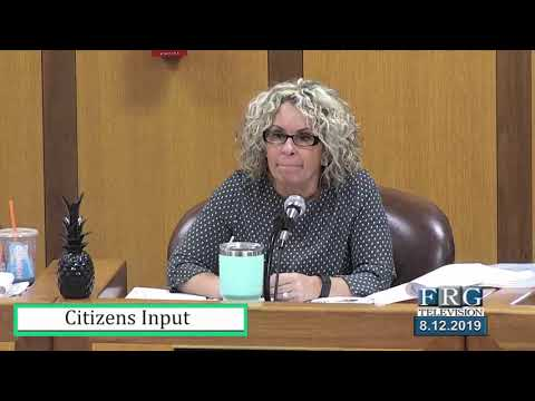 8.12.2019 Fall River City Council Meetings