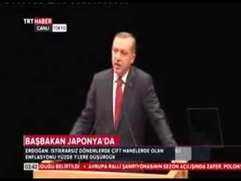 Başbakan Erdoğan. Japonya-Tokyo Nikkei Gazetesi Konferansı.