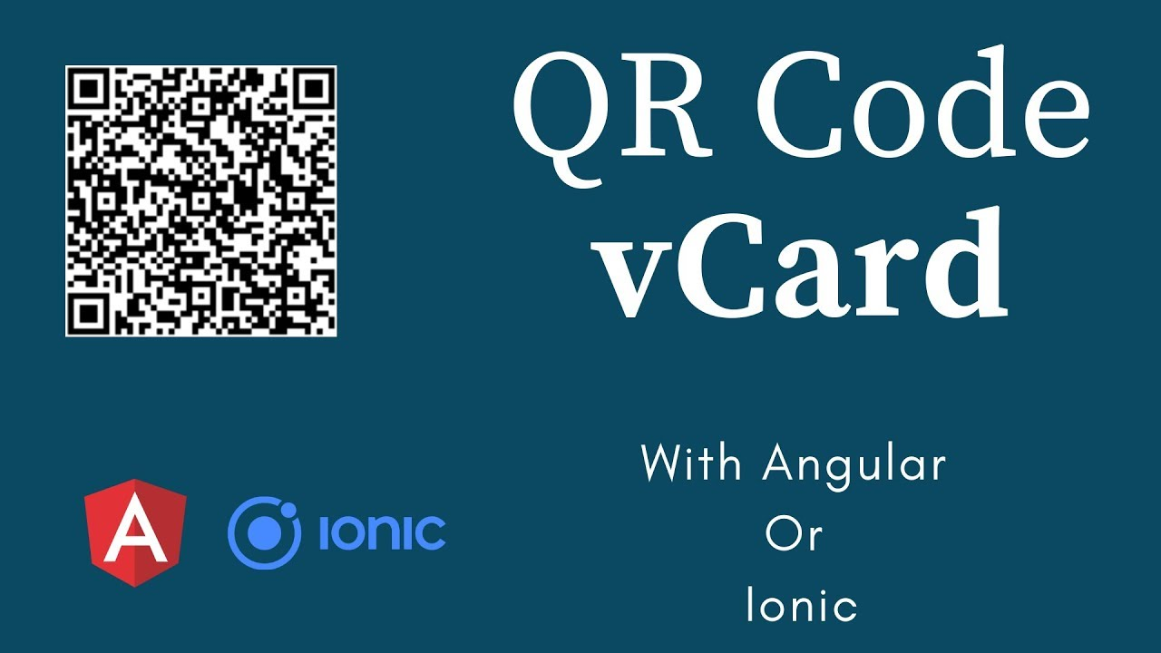 Implementing QR code vCard in IONIC / ANGULAR