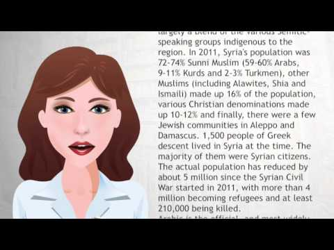 Demographics of Syria - Wiki Videos