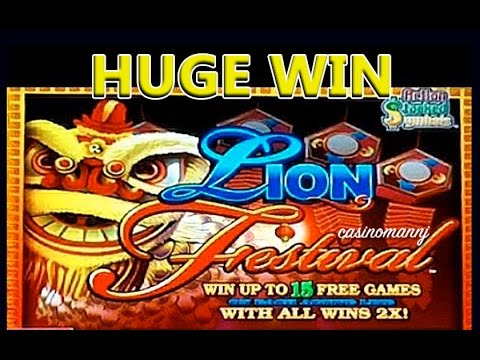 Lion Festival Slot Huge Win Slot Machine Bonus