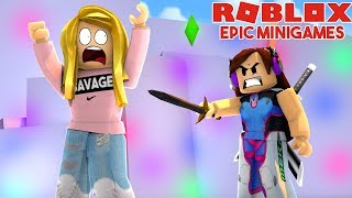 SHE TURNED AGAINST ME IN EPIC MINIGAMES! (Roblox)