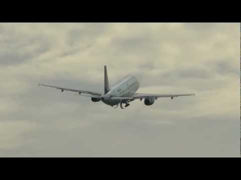 Onur Air Airbus A320 takeoff Brnik airport (LJU/LJLJ) HD