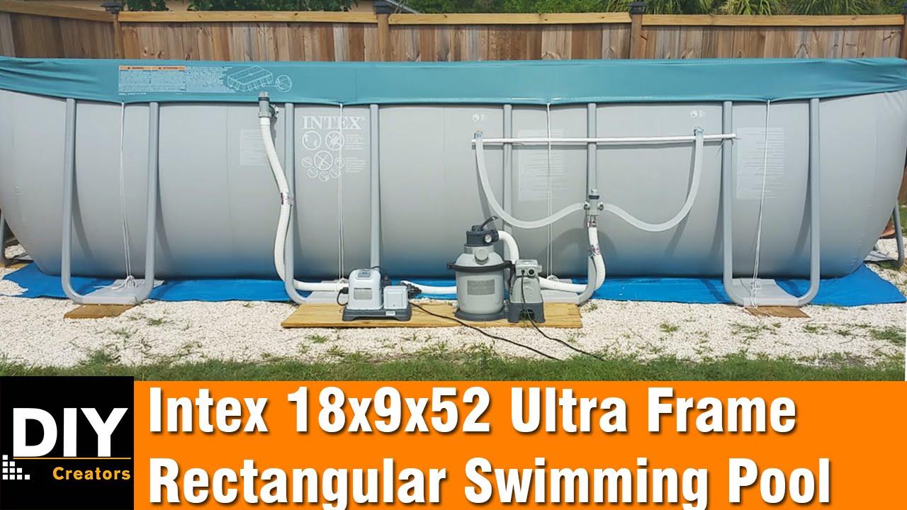 Intex 18x9x52 Ultra Frame Rectangular Swimming Pool