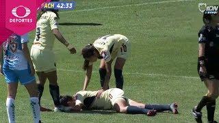 Lesión de Diana González | América 1 - 0 Pachuca | CL2019 - J8 - Liga Mx Femenil