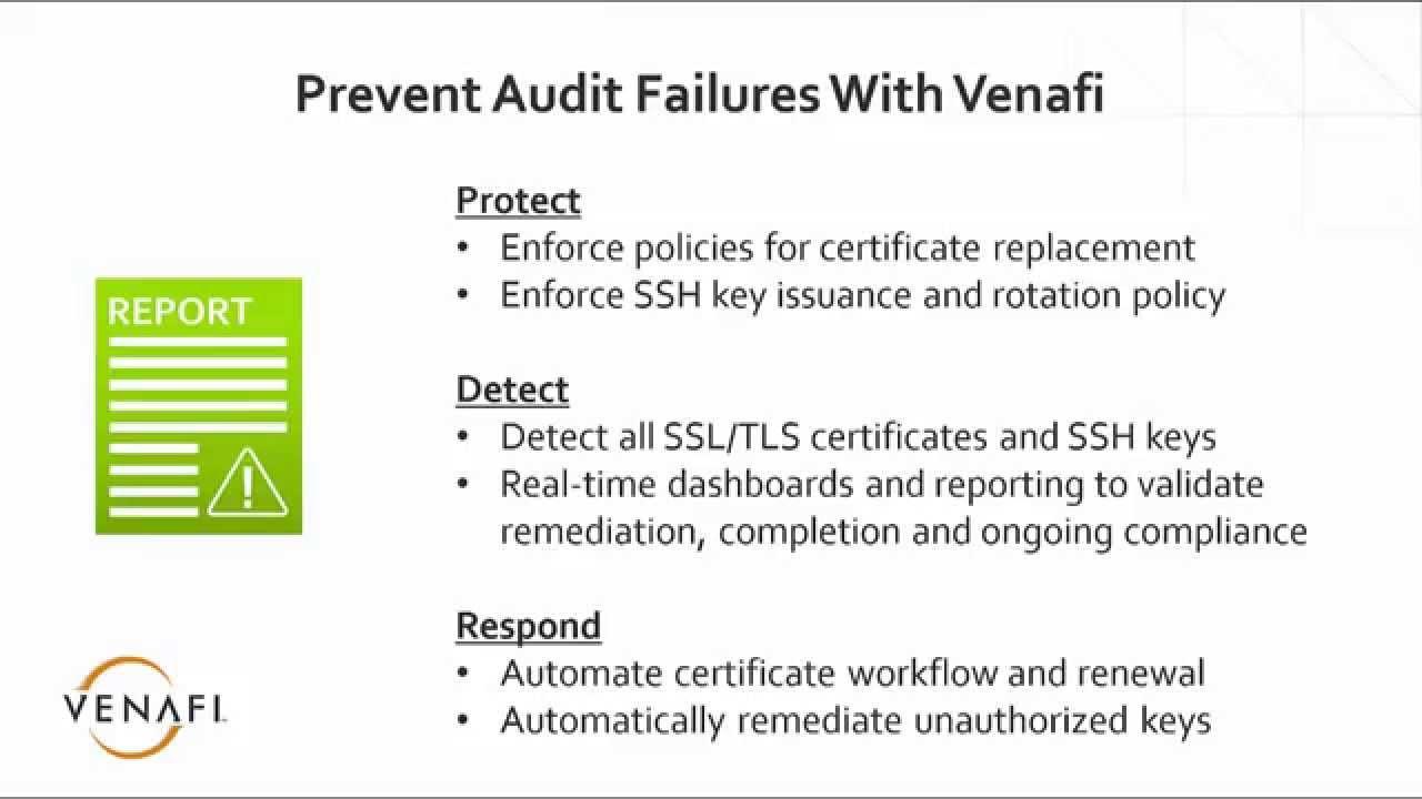 Audit Remediation for SSL/TLS and SSH