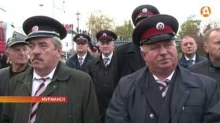 В Мурманске открыли памятник паровозу
