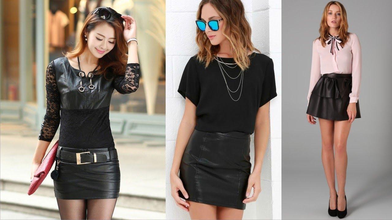 43988892fe5 Best Short Black Leather Skirt This Year - YouTube