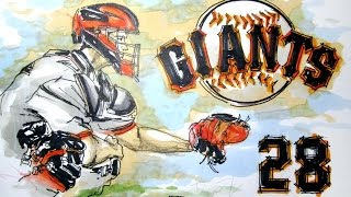 Sports Series:  Buster Posey-Catcher SF Giants Time Lapse Drawing