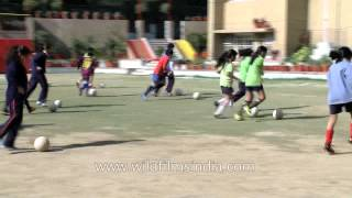 Future of Indian football: Students of The Shri Ram school learning football