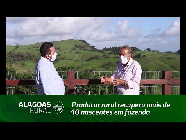 Produtor rural recupera mais de 40 nascentes em fazenda