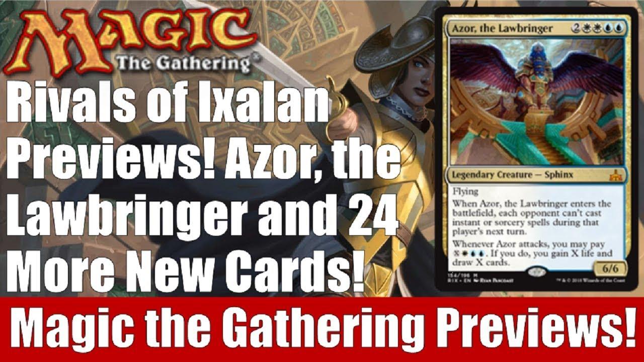 Mtg Rivals Of Ixalan Previews Azor The Lawbringer And 24 More New