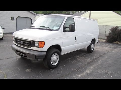 2007 FORD E 250 VAN Super Duty Econoline Cargo Start Up And Review