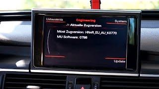 Audi MMI 3G+ red engineering menu