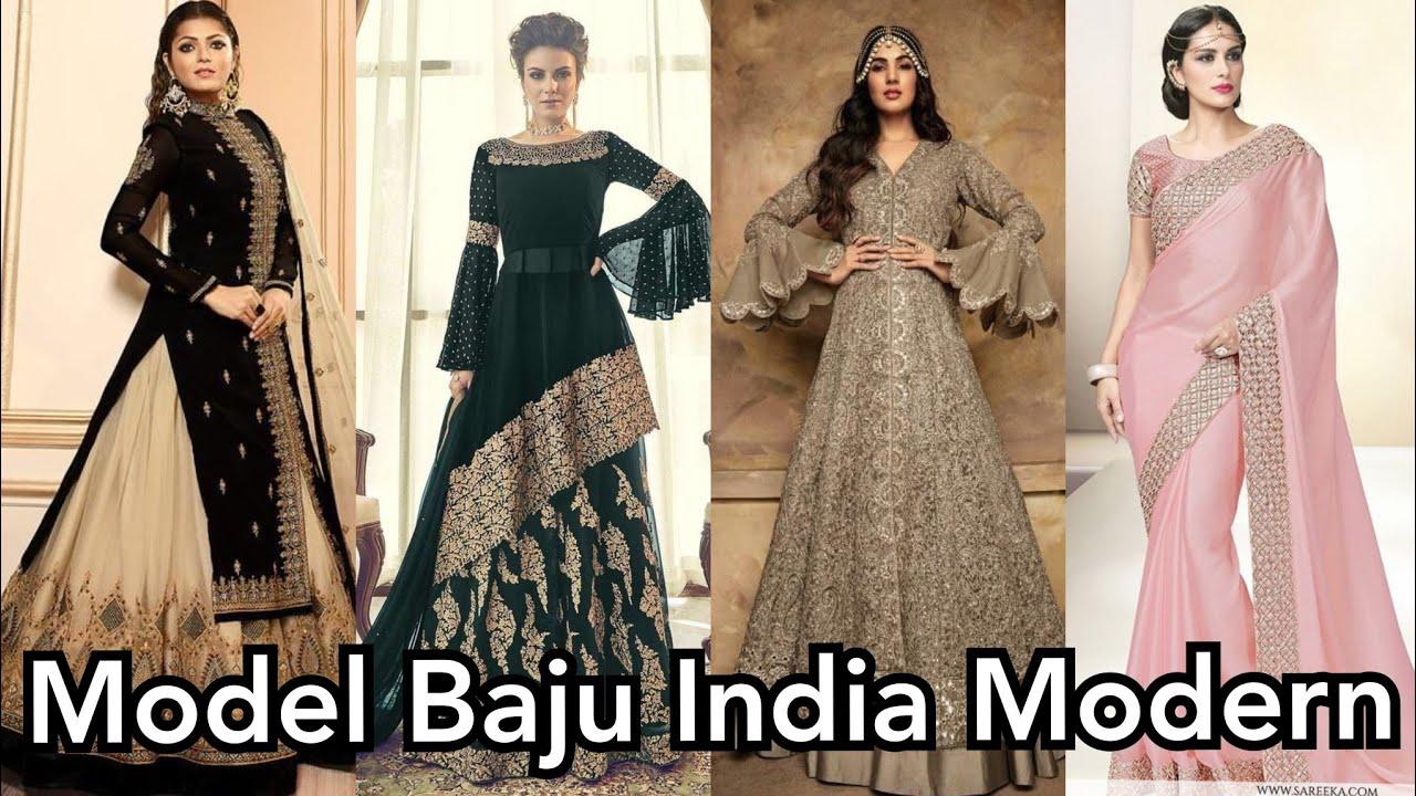 Koleksi Gaun Pesta India Modern ( Model Gamis India) - YouTube