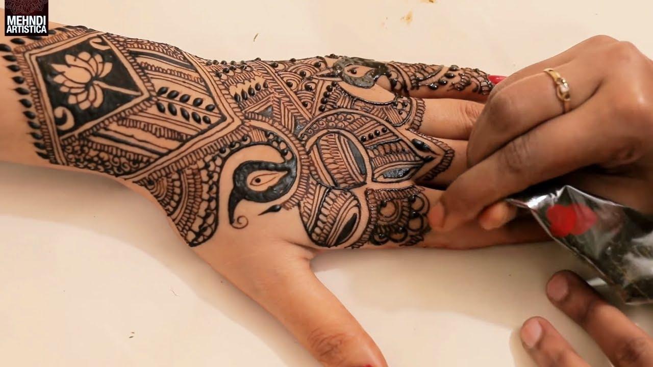 Mehndi Back Tattoo Designs : Back to amazing mehndi design for upper side indian henna