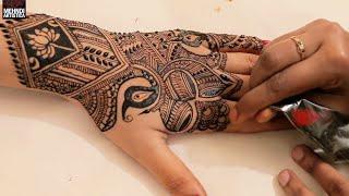 Back To Back 3 Amazing Mehndi Design For Upper Side | Indian Henna Mehendi Application Tattoo