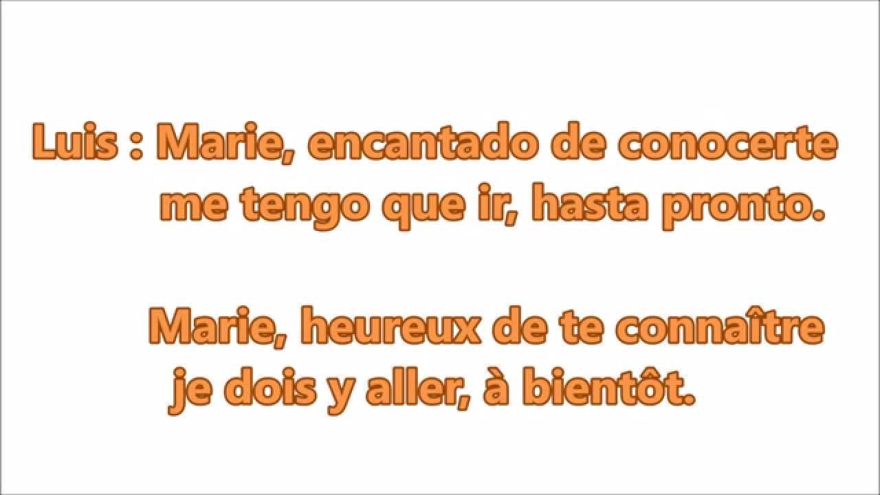 se presenter en espagnol a l ecrit