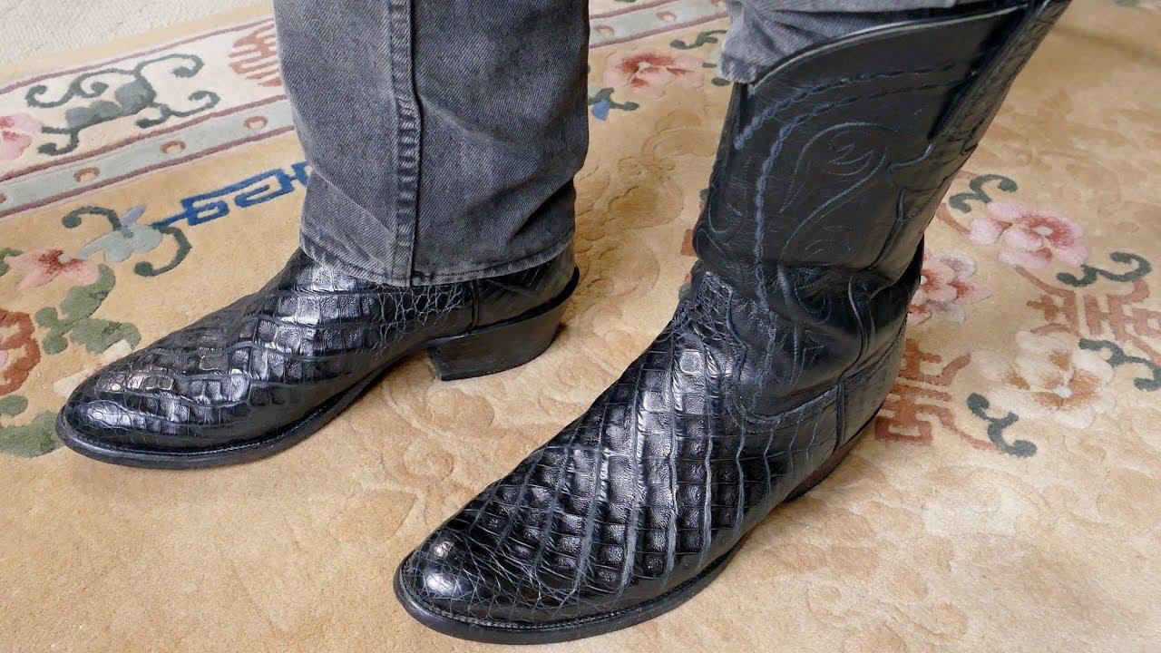 cebd390e1c5 Lucchese Custom Made Crocodile Boots in 4k UHD