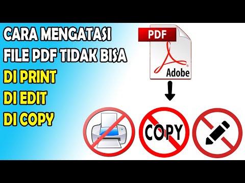 Cara Proteksi File PDF agar Tidak Bisa di Copy dan Tidak Bisa di Print.