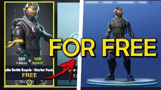 HOW TO GET ROGUE AGENT FOR FREE! (Fortnite glitch/free starter pack)