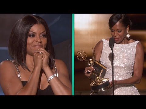 Thumbnail: Taraji P. Henson Freaks Out Over Regina King's Emmy Win -- And It's AMAZING.