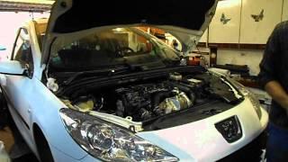 Démarrage d'une 307 après changement du moteur